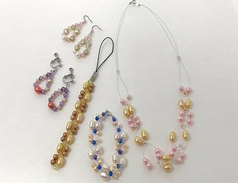 真珠のアクセサリー作り体験もお楽しみいただけます!