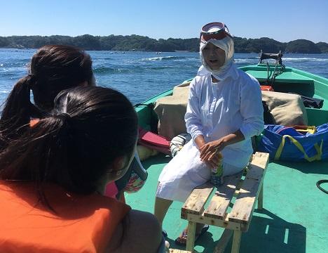 代々引き継がれてきた海女漁の話や体験談などの話を聞く事ができます。