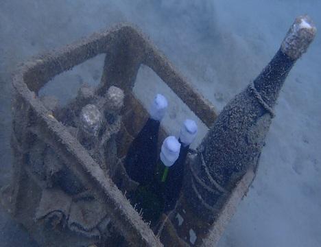 ⑥約1年間 海中で熟成させます